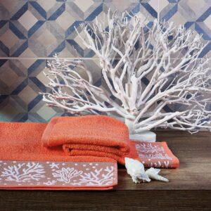 Asciugamani Bagno Corfu Corallo