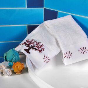 asciugamani atlantis corallo
